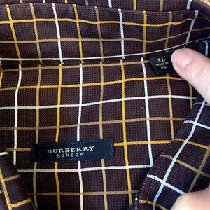 Burberry button up long sleeve shirt Sz xl